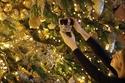 شجرة عيد الميلاد مرصعة بالذهب في قلعة وندسور في إنجلترا في عام 2018
