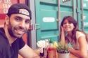 نشر الفنان أحمد الشامي صورة له مع زوجته أثناء تناولهما الغذاء.