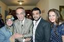 الفنان محمود ياسين مع زوجته شهيرة وأبناءه عمرو ورانيا