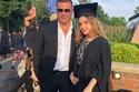 """""""الهضبة"""" يحتفل بتخرج أبنائه مع زوجته وعيد ميلاد ابنته مع دينا الشربيني"""