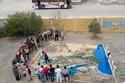 صور: مُدرس يحوّل فناء المدرسة إلى خريطة مُجسمة