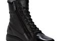 حذاء الجلد ذو الفرو الداخلي