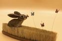 الأرنب والفراشات