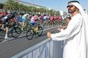 الشيخ محمد بن راشد أثناء حضوره لسبا دراجات في وقت سابق