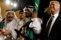 العاهل السعودي الملك سلمان والرئيس الأميركي دونالد ترامب
