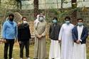 وزير الصحة السعودي أثناء زيارته إلى محمية الأوسية للطيور