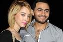 المطرب المصري تامر حسني وزوجته المغربية بسمة بوسيل