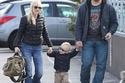 كريس برات وآنا فاريس مع ابنهما