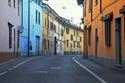 منظر لشارع مهجور في Codogno، شمال إيطاليا، في 23 فبراير 2020.