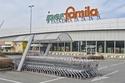 إغلاق سوبر ماركت في Codogno، إحدى المدن الإيطالية الشمالية.