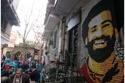 جدارية محمد صلاح في أحد مقاهي مصر