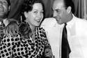 القدير الراحل فريد شوقي وزوجته هدى سلطان