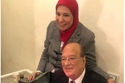 الفنان الراحل حسن حسني وزوجته
