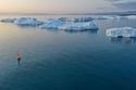 الجبال الجليدية في منطقة جزيرة غرينلاند