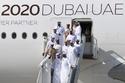 الشيخ محمد بن زايد والشيخ حمدان بن محمد في معرض دبي للطيران 2019