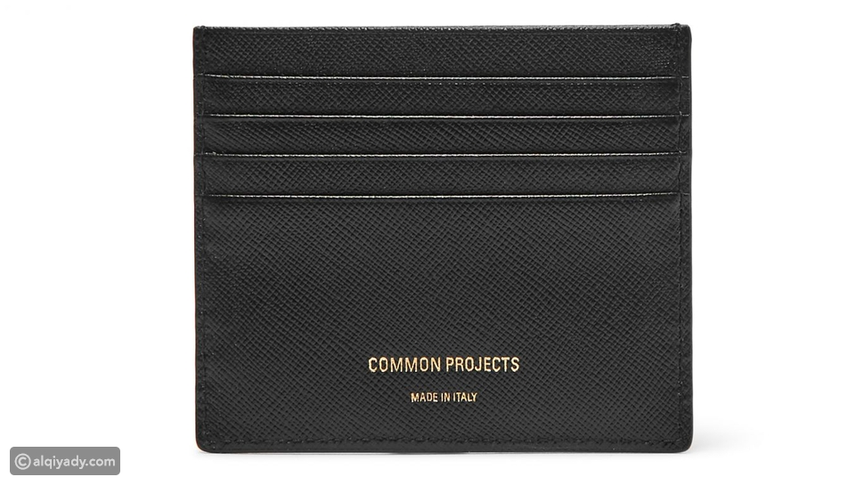 8- Common Projects Cross Grain Leather Cardholder: