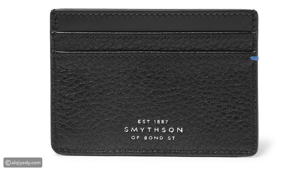 4- Smythson Burlington Two-Tone Full-Grain Leather Cardholder: