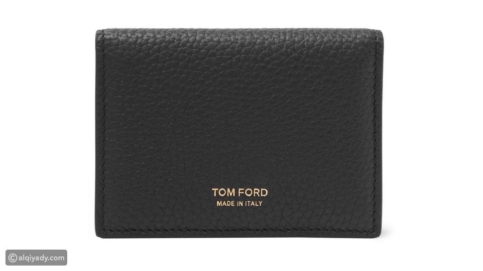 1- Tom Ford Full-Grain Leather Bifold Cardholder: