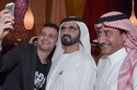 حاكم دبي ورامز جلال وناصر القصبي