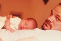 صورة لميغان وهي طفلة مع والدها