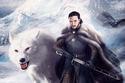 خلفية جون سنو مرسومة مع الذئب الأبيض