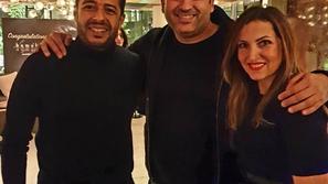 شاهد: مشاهير الفن يحتفلون بحماقي.. وعمرو يوسف يراقص كندة علوش