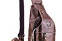 Men's Sling Bag Genuine Leather