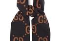 GG-jacquard wool-blend scarf