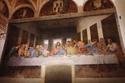 لوحة العشاء الأخير في كنيسة سانتا ماريا ديلي غراسي، إيطاليا