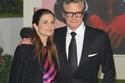 الممثل كولين فيرث مع زوجته السابقة