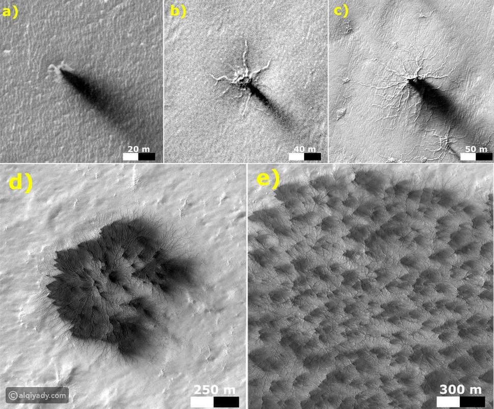 عناكب المريخ: أسرار جديدة يكشفها الكوكب الأحمر