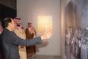 ولي العهد السعودي خلال زيارته لمتحف هيروشيما التذكاري للسلام 2