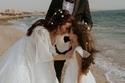 محمود حجازي مع أسماء شريف منير وابنتها لارا في فوتوسيشن حفل الزفاف