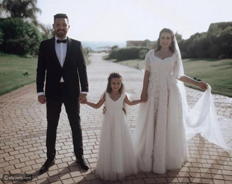صور: أبناء مشاهير شاركوا آبائهم فرحتهم في حفلات زواجهم