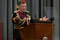 درس في أكاديمية ساندهيرست العسكرية الملكية في المملكة المتحدة
