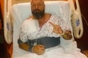 تريبل إتش في غرفته بالمستشفى بعد إجراء العملية