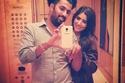المخرج محمد سامي وزوجته مي عمر