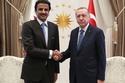 """شاهد: تميم يهدي أردوغان """"قصرًا طائرًا"""".. وحالة من الجدل تسود تركيا"""