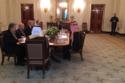 مأدبة غداء اللقاء التاريخي بين محمد بن سلمان ودونالد ترامب