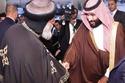الأمير محمد بن سلمان ولي العهد السعودي لدى وصوله الكاتدرائية
