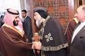 البابا تواضروس الثاني يستقبل محمد بن سلمان في الكاتدرائية