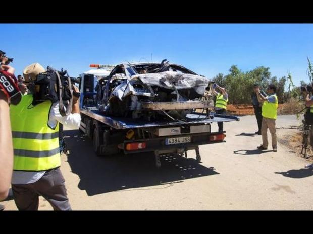 صور حادث تحطم سيارة اللاعب الراحل خوسيه أنطونيو رييس 4