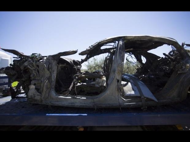 صور حادث تحطم سيارة اللاعب الراحل خوسيه أنطونيو رييس 2