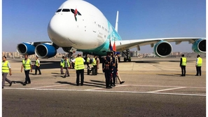رئيس مدغشقر يصل مصر على متن أكبر طائرة بالعالم لدعم بلاده بأمم أفريقيا