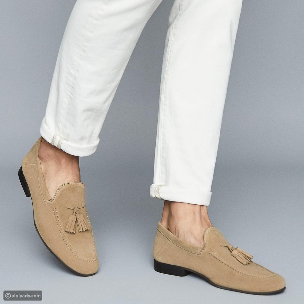 حذاء لوفر من جلد الغزال