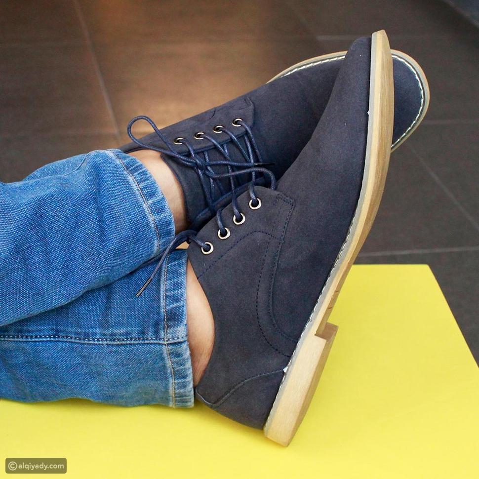 حذاء ديربي من جلد الغزال