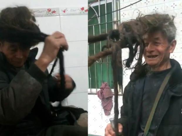 ويعتقد أنه صاحب أطول شعر في العالم