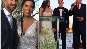 زفاف سيرخيو راموس ومسعود أوزيل وسيسك فابريغاس وليونيل ميسي