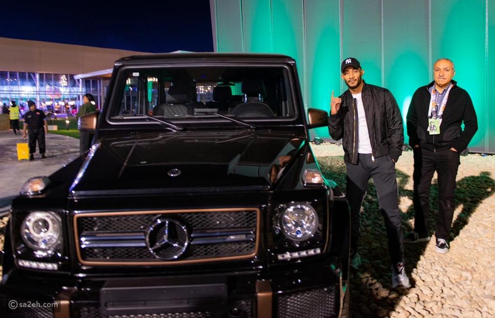 محمد رمضان بمعرض الرياض للسيارات