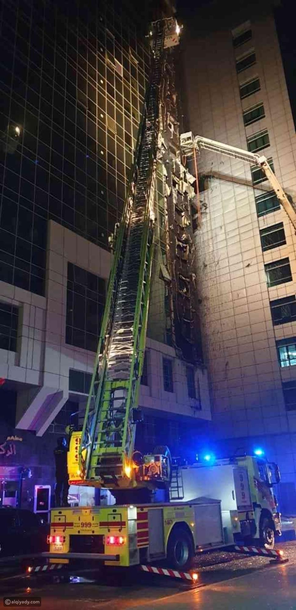 السيطرة على حريق في بناية بالمعمورة الإماراتية